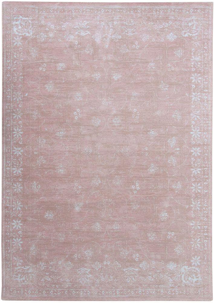 Vintage vloerkleed Roze, Cameo - Louis de Poortere. Wij leveren alle maten tegen een zeer scherp tarief.
