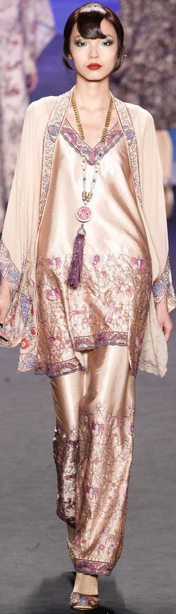 Anna Sui, Fall 2014 | The House of Beccaria~ I love all but the hairstyle