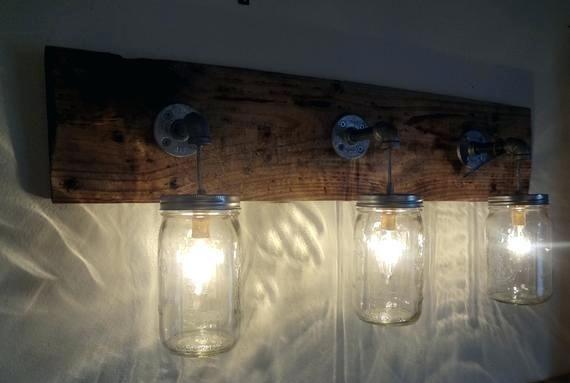 55 Mason Jar Bathroom Light Hanging Light Fixtures Rustic Bathroom Lighting Mason Jar Lighting