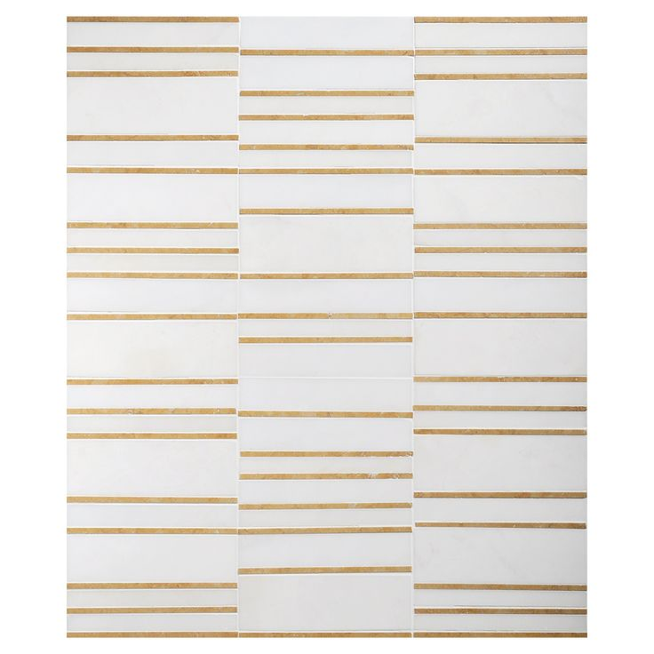 Complete Tile Collection Mosaic Masterworks, Corridor Pattern, MI#: 241-S2-401-216a, Color: Heavenly Cream & Jerusalem Gold