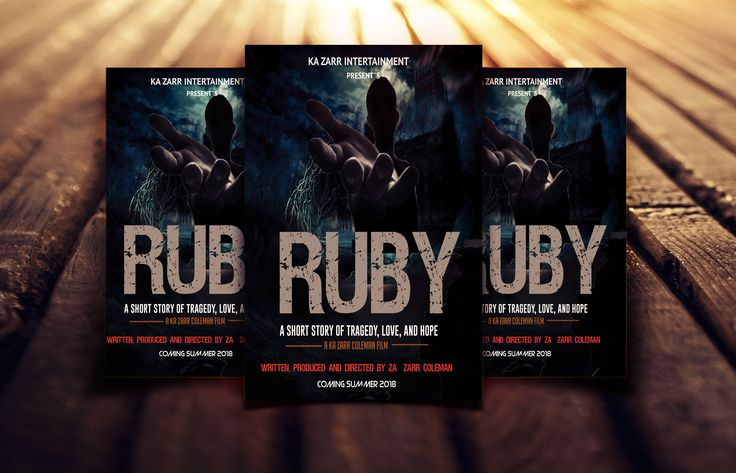 """Check out this @Behance project: """"Ruby Movie Poster Design"""" https://www.behance.net/gallery/59624873/Ruby-Movie-Poster-Design"""