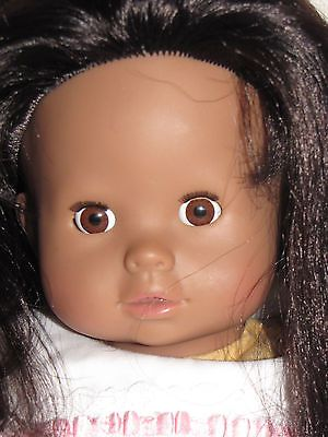 """Gotz-Puppenmanufaktur GmbH Germany African American Doll 16"""" Long Thick Hair"""