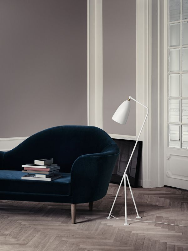 GUBI // Gräshoppa floor lamp and Grand Piano sofa
