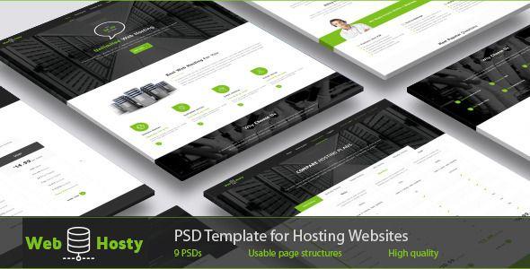 WebHosty - Hosting PSD Template - Hosting Technology