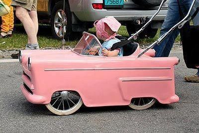 Sweet little stroller for a future hot rod girl.
