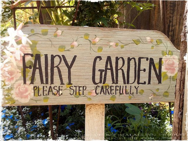 Garden Sign Ideas i want to put this garden sign in front of my flower garden Find This Pin And More On Gotta Luv Fairy Garden Signs