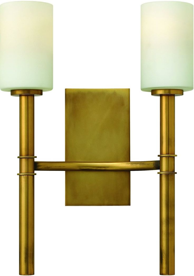 13 Inchw Margeaux 2 Light Wall Sconce Vintage Brass