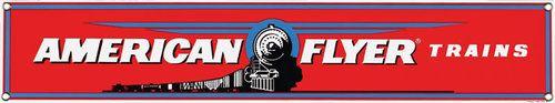 American Flyer Train Red Porcelain Sign