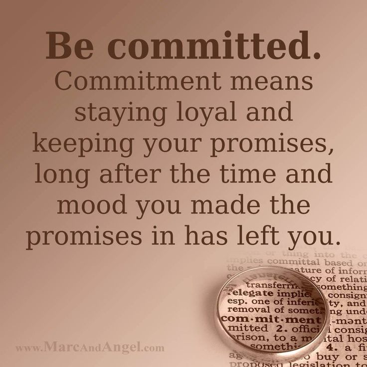 what are the 5 steps to a committed relationship