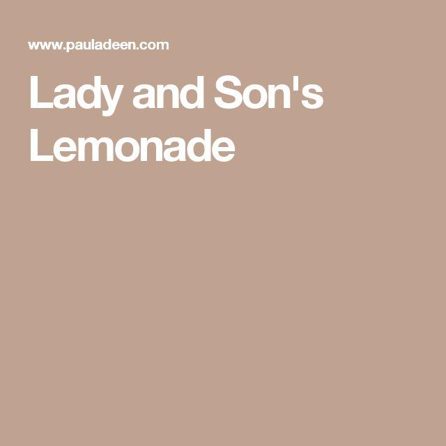 Lady and Son's Lemonade | Recipe | Summer drinks, Paula deen