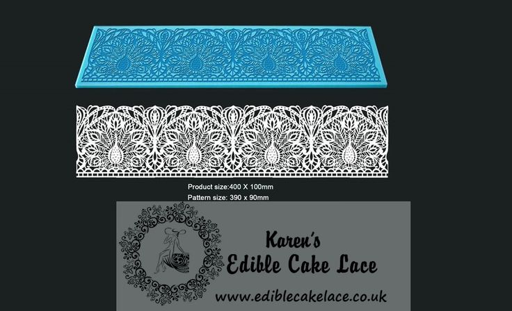 Peacock - 3D HD Cake Lace Mat