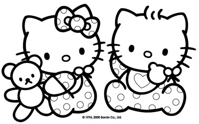 Hello Kitty Coloring Pages Collection Hello Kitty Colouring