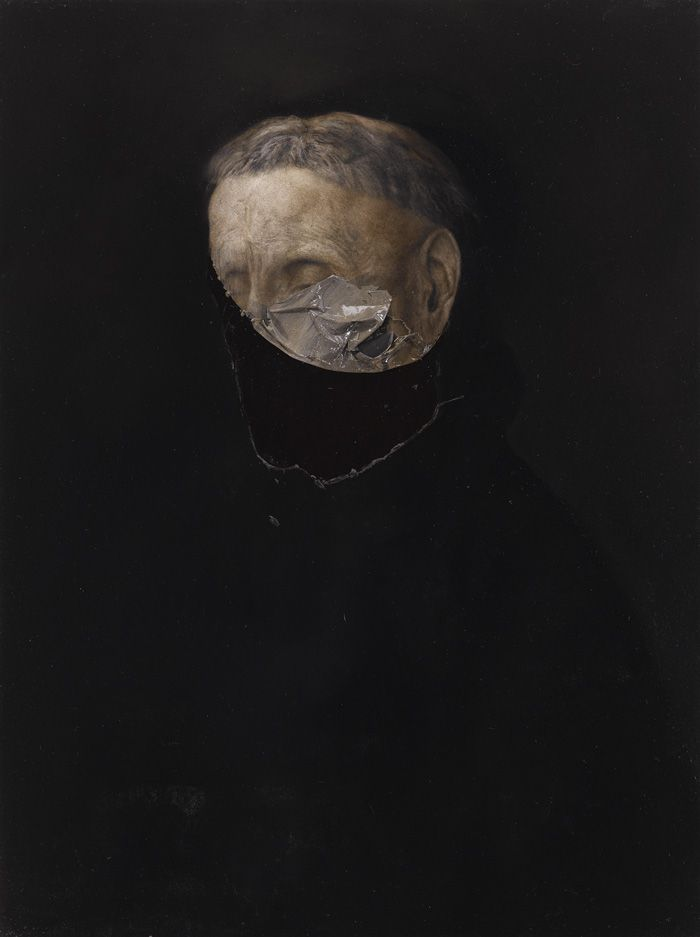 "Nicola Samorì (italien, 1977), ""Monk"", 2011, oil on wood, 40 x 30 cm"