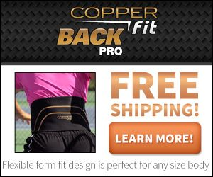 If you want a good back belt the Copper Fit Back Pro is for you. It has been infused with form fitting compression technology support. It helps to relieve lower back pain and provide you with everyday support.
