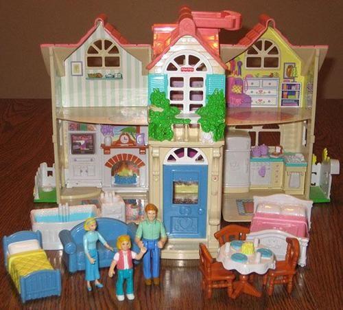Fisher Price Sweet Street Country Dollhouse W/Furniture U0026 Family