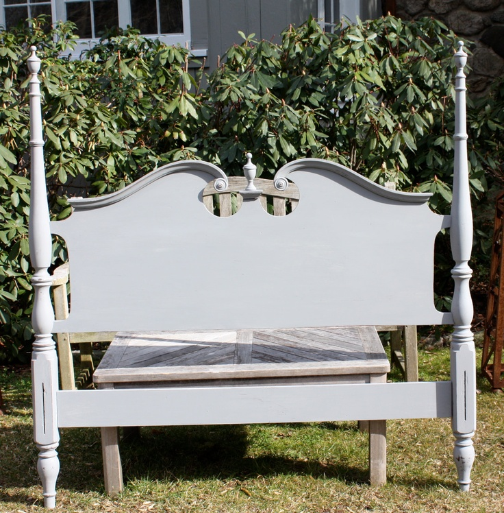 Painted full size headboard.