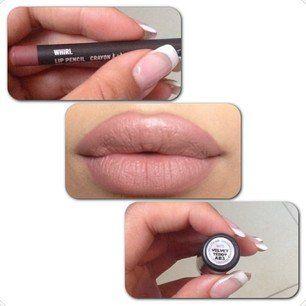 #kylielipstick MAC Whirl lipliner with Velvet Teddy or Faux lipstick