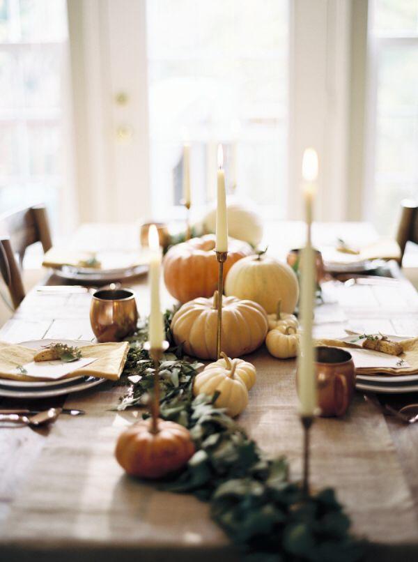 {Thanksgiving dinner.}