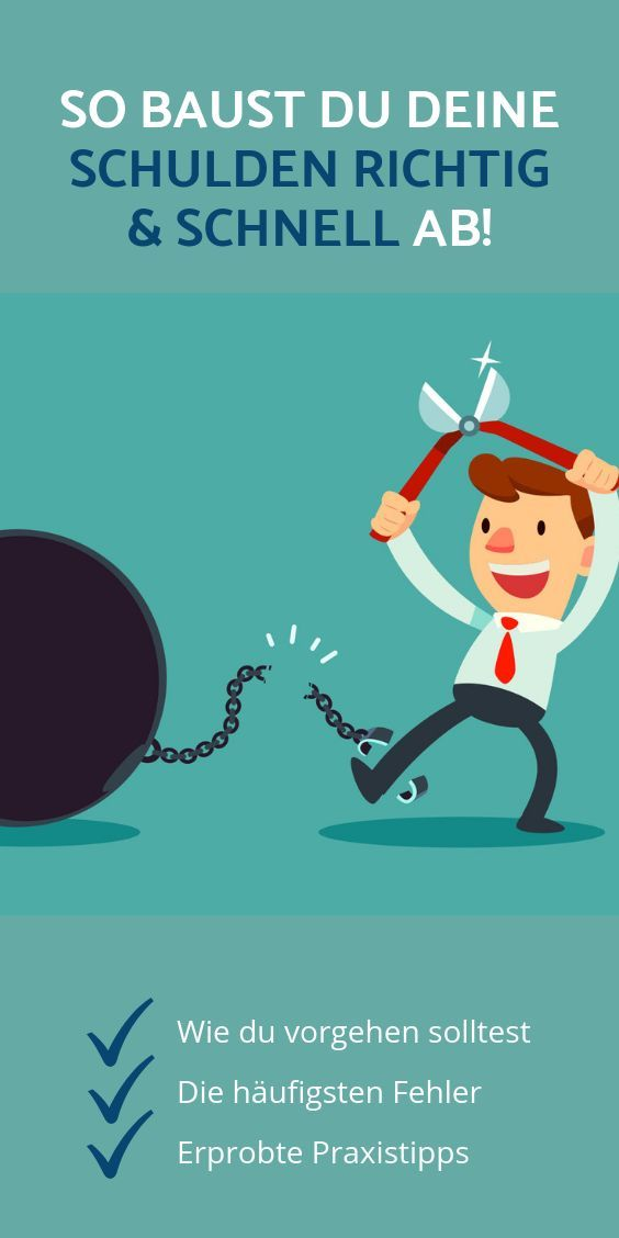 ᐅ Schulden abbauen: Der beste und einfachste Weg raus aus den Schulden