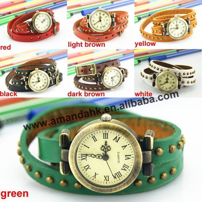 100 pcs/lot On Sale Vintage Woman Watches Roman Long Strap Wristwatch Popular Leather Watches Casual Dress Punk Wristwatches-in Women's Watches from Watches on Aliexpress.com   Alibaba Group