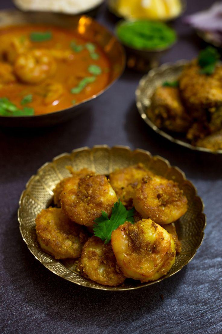 Goan Prawns Curry, Tilapia & Prawns Fry Recipe