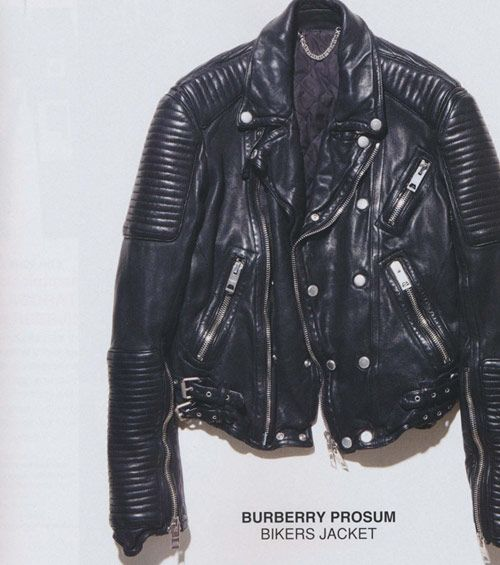 i have to promise myself that i go buy me a good leather jacket in 2013 - Burberry Prosum