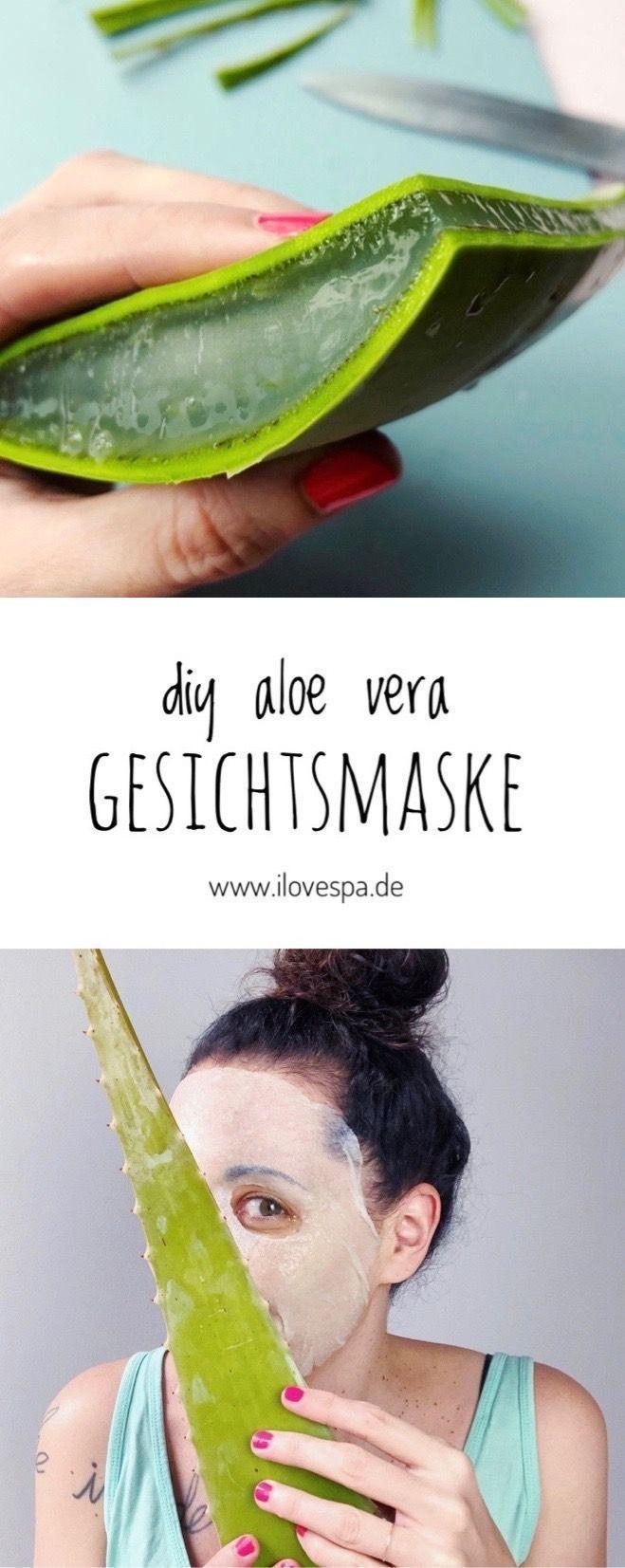 Aloe Vera Gesichtsmaske DIY – Aloe Vera Maske selber machen – #Aloe #DIY #Gesich…