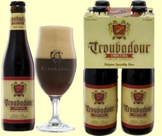 Troubadour Obscura, 8.5% 5/10 Dark beer (Stout). Brewery The musketeers, Ursel, Belgium