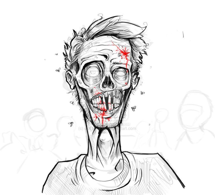 1000+ Ideas About Zombie Drawings On Pinterest