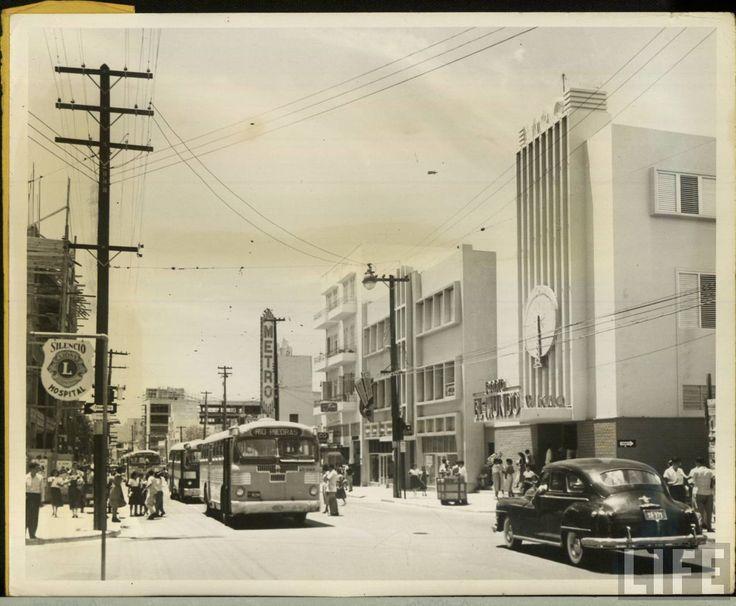 Calle de San Juan,finales de los años 40,Puerto Rico.