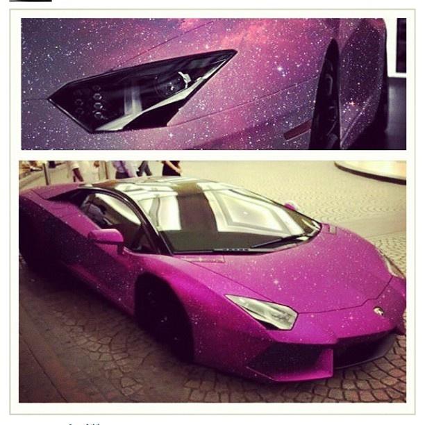 Creative Pink Galaxy, Aventador Pretty Cool!