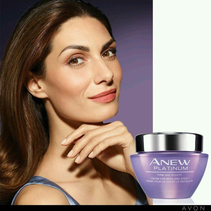 New Anew platinum firm and sculpt cream for neck and chest rosemarieclark.avonrep@gmail.com