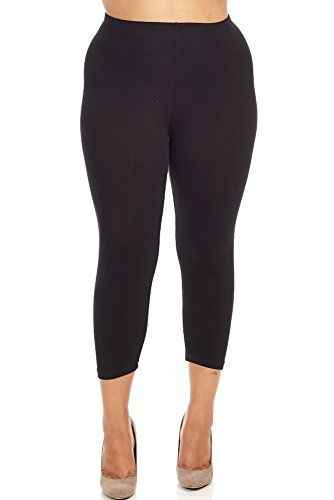 Bozzolo Womens Ladies Plus Size Capri Leggings 3XL black ** You can get additional details at the image link.
