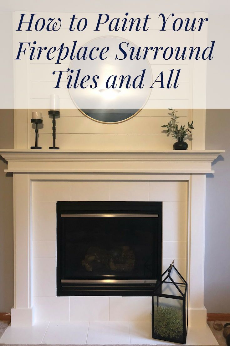 how to paint your fireplace surround tiles and all by kim schaaf rh pinterest com