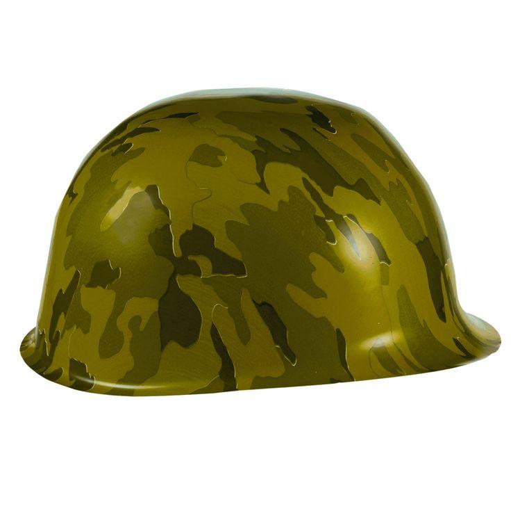 Maak je camouflage feest helemaal compleet met deze kunststof feesthelm. Afmeting: 23 x 18,5 x 11 cm - Camouflage Feesthelm