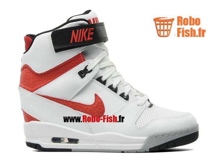Nike Air Revolution Sky Hi GS - Chaussures Pour Femme Blanc/Rouge/Gris/Noir 599410-106