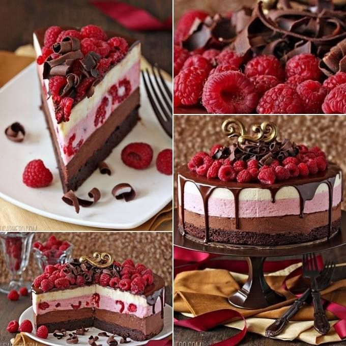 How to Make Delicious Chocolate Raspberry Mousse Cake. I want to try this recipe in a chocolate bowl instead of using a cake pan