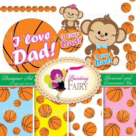 Designer Set Father's day element Cute Girl Boy Monkeys Clipart Basketball background digital paper pack Personal & Commercial use  by PaintingFairyClipart, $4.00  Everything Else Graphic Design scrapbooking clipart handmade invitations scrapbook papers blue safari animals lovely sport images zoo graphics supply kid greeting clipart i love daddy card making card design printable resource little monkey ball jungle element kit happy dad clipart