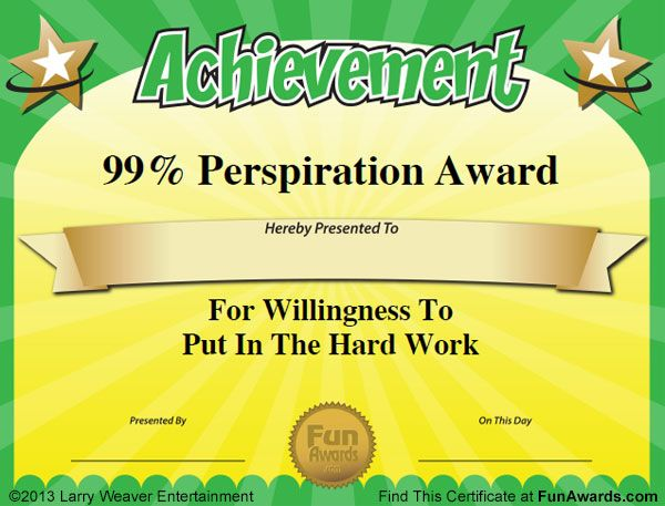 19 best funny teacher awards images on pinterest teacher for Funny certificates for employees templates