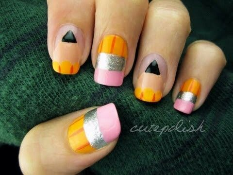Cute Polish Pencil Nail's