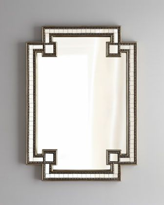 I would love this behind the lamps in the master bedroom...above the nightstands. $495.00 #Mirror #MasterBedroom #Decorating