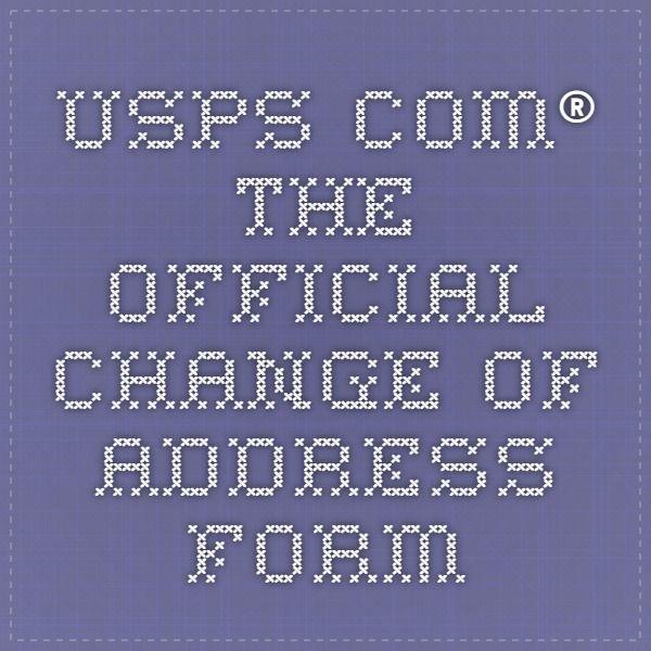 Более 25 уникальных идей на тему «Change my address online» в - official change of address form
