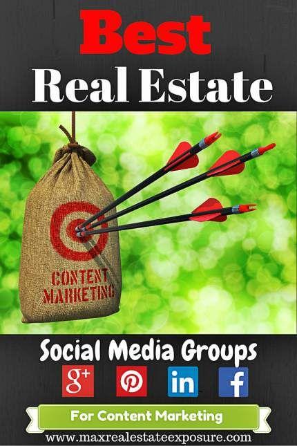 Best Real Estate Social Media Groups For Massive Blog Traffic: http://www.maxrealestateexposure.com/best-real-estate-social-media-groups/