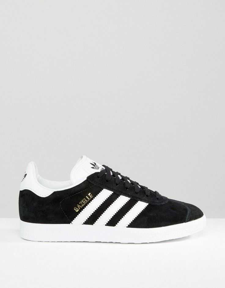 Image 2 - adidas Originals - Gazelle - Baskets en daim - Noir