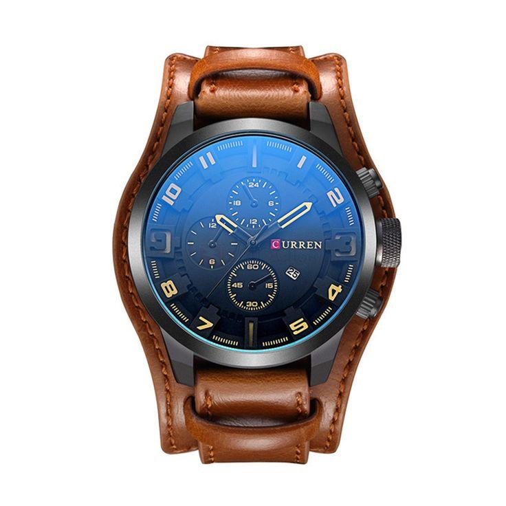 Currenn 8225 Mens Casual Watch Decorative Sub-dial Date Display
