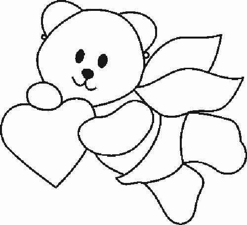 teddy mit herz  ausmalbilder süße pferde teddy mit herz