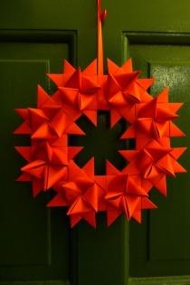 Origami German Star Wreath