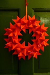 Origami German Star Wreath