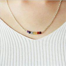 7 Chakra Beads Pendant Necklace Women Yoga Reiki Healing Balancing Necklaces