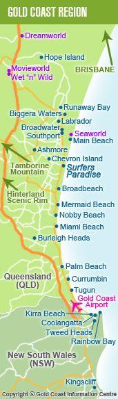 Gold Coast Map #airnzsunshine